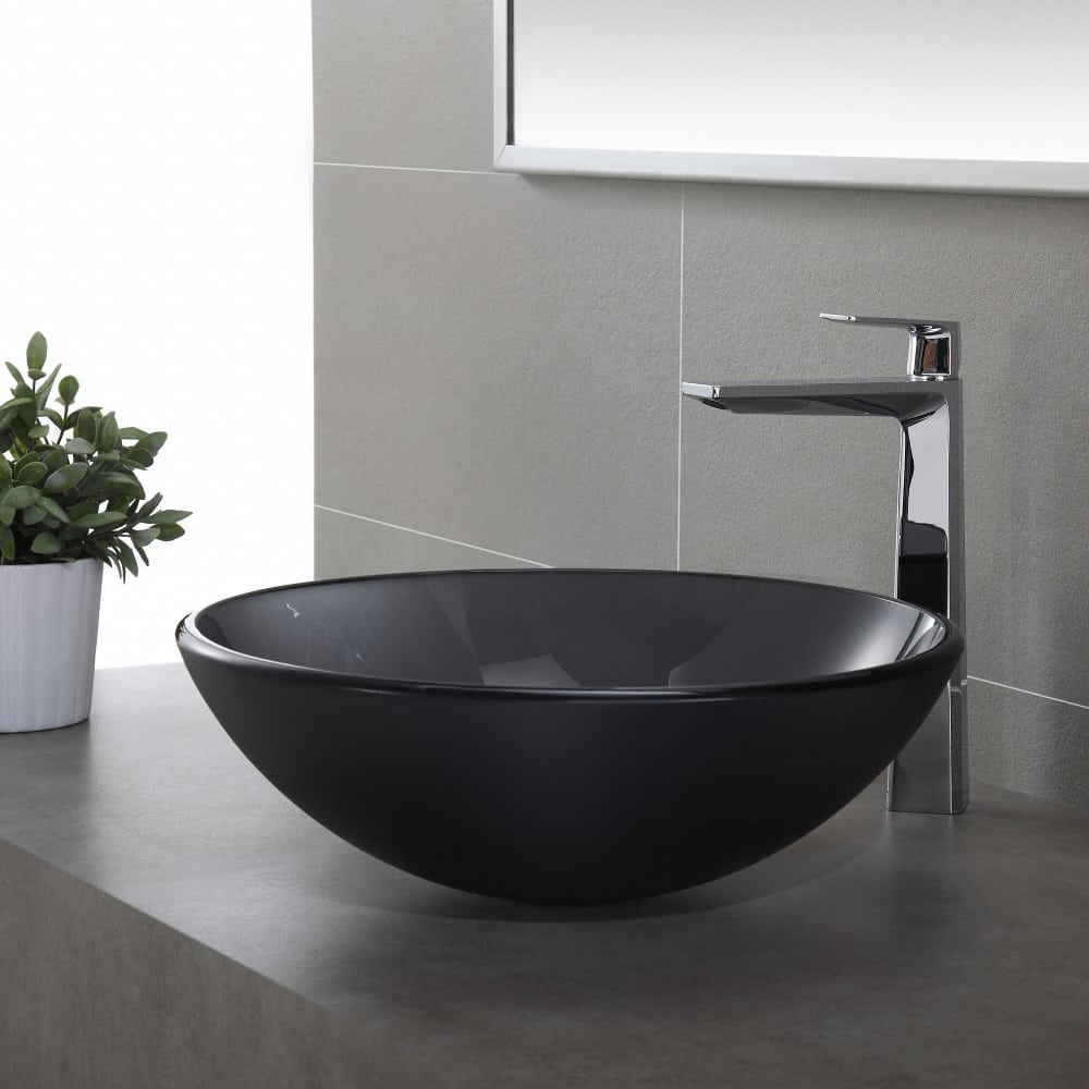 Kraus KEF15300CH Aplos Single Handle Vessel Bathroom Faucet with ...