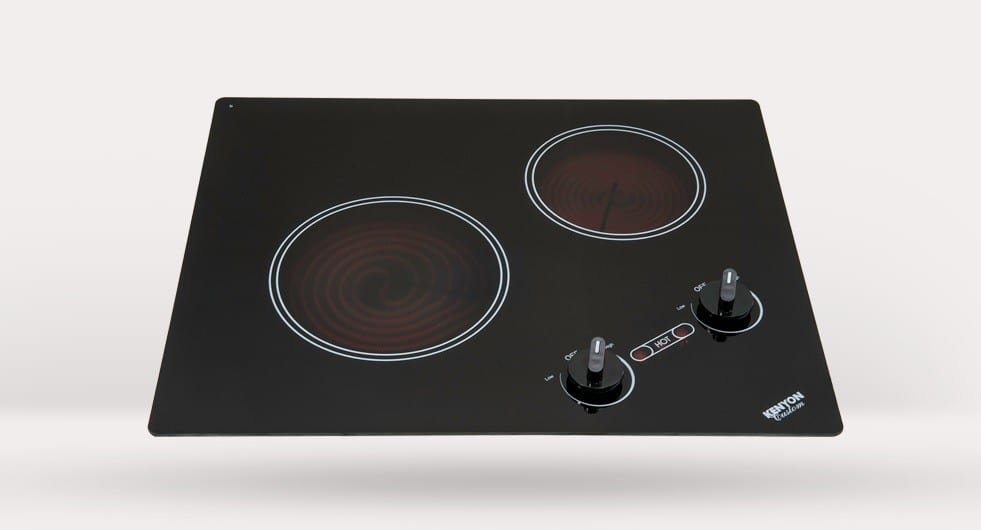 kenyon b41694 21 inch smoothtop electric cooktop with 2 radiant
