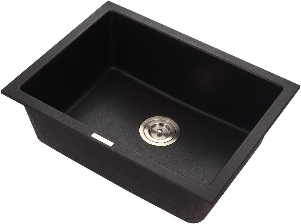 """Kraus 24/"""" Bowl Drop-In//Undermount Granite Composite Kitchen Sink KGD-410B"""