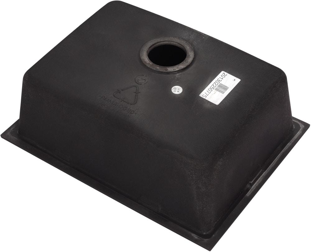 Kraus kgd410b 24 inch dual mount single bowl granite for Ajmadison