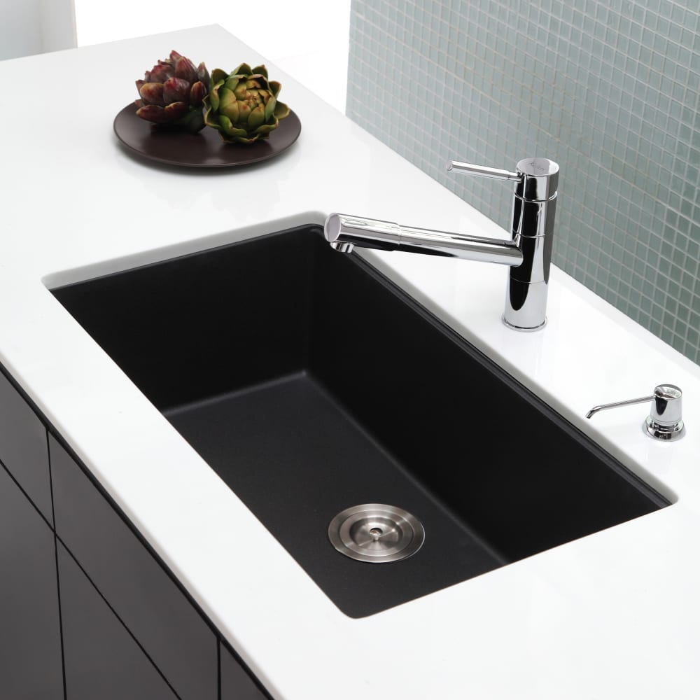 ... Kraus Kitchen Sink Series KGU413B   Lifestyle View