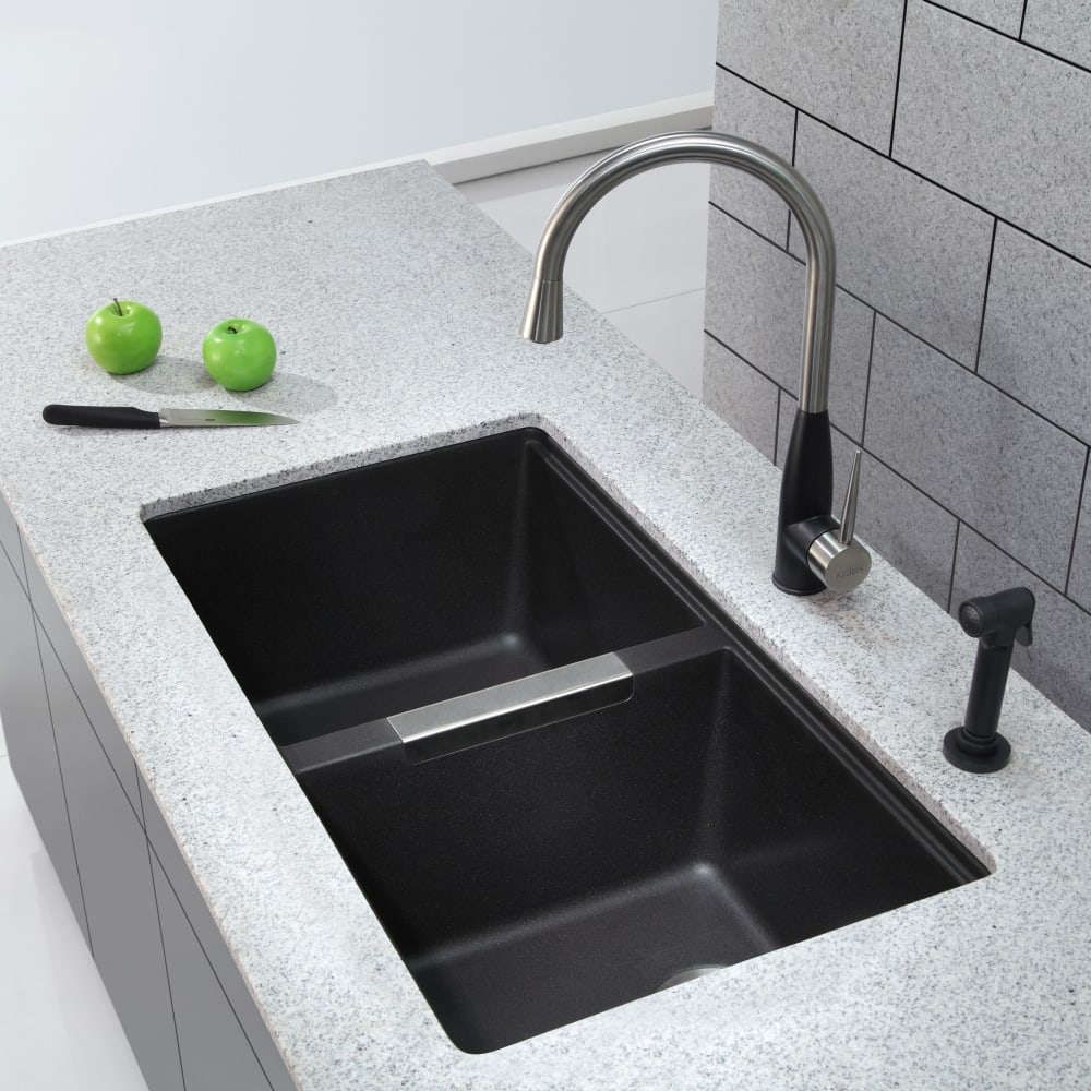 Kraus kitchen sink series kgu434b lifestyle view
