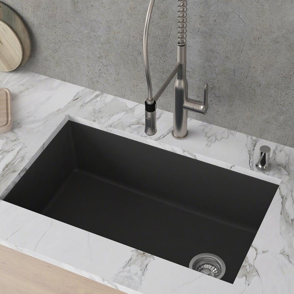 Kraus Kgu55black 32 Inch Undermount Single Bowl Granite