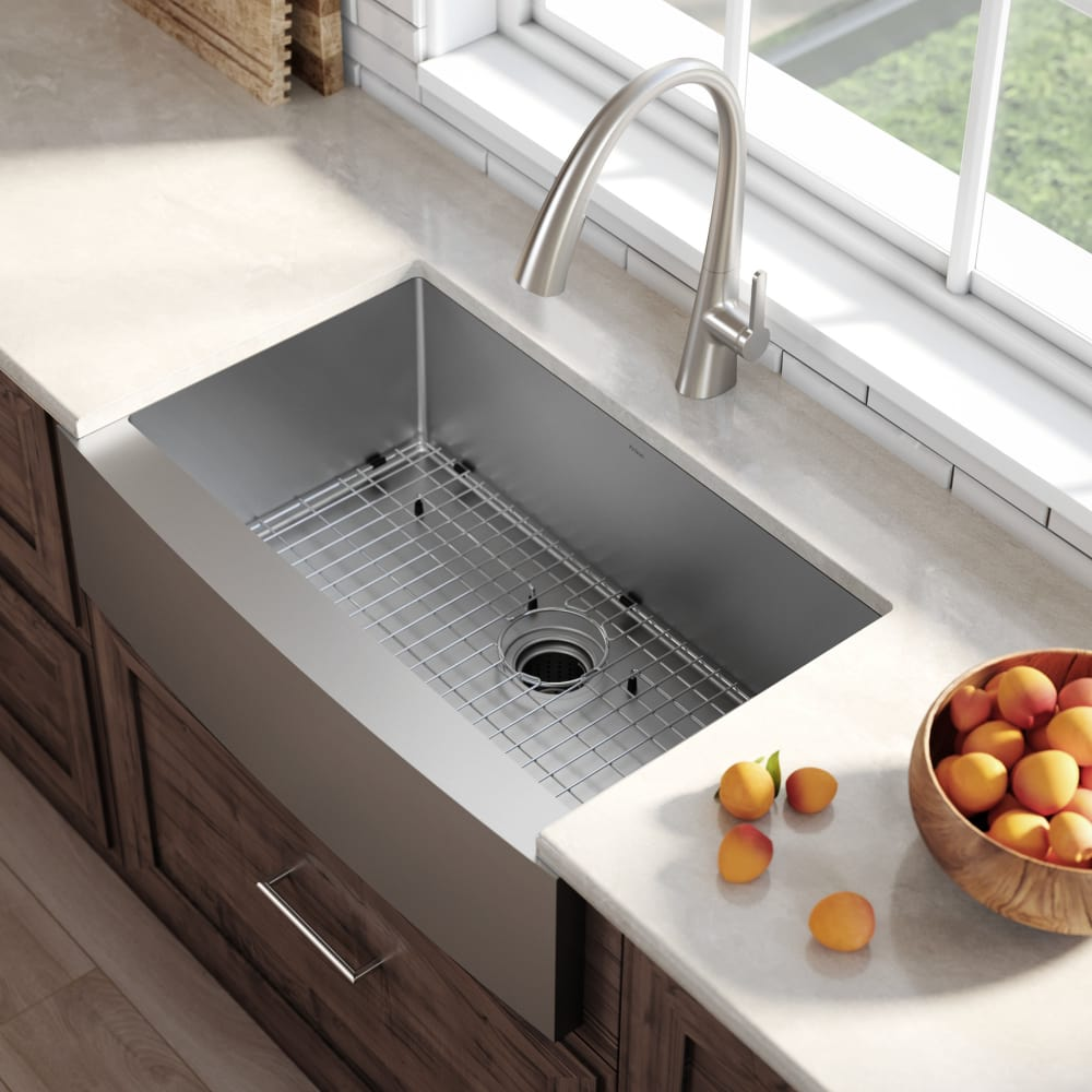 30 inch kitchen sink 28 inch kraus khf20030 30 inch farmhouse single bowl stainless steel kitchen sink with 16gauge 10 depth rearset drain opening and stone guard