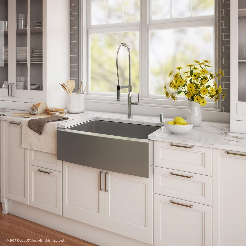 Kitchen Beautiful Farmhouse Sink For Sale For Lovely: Kraus KHF20033165041CH 33 Inch Apron Front Kitchen Sink