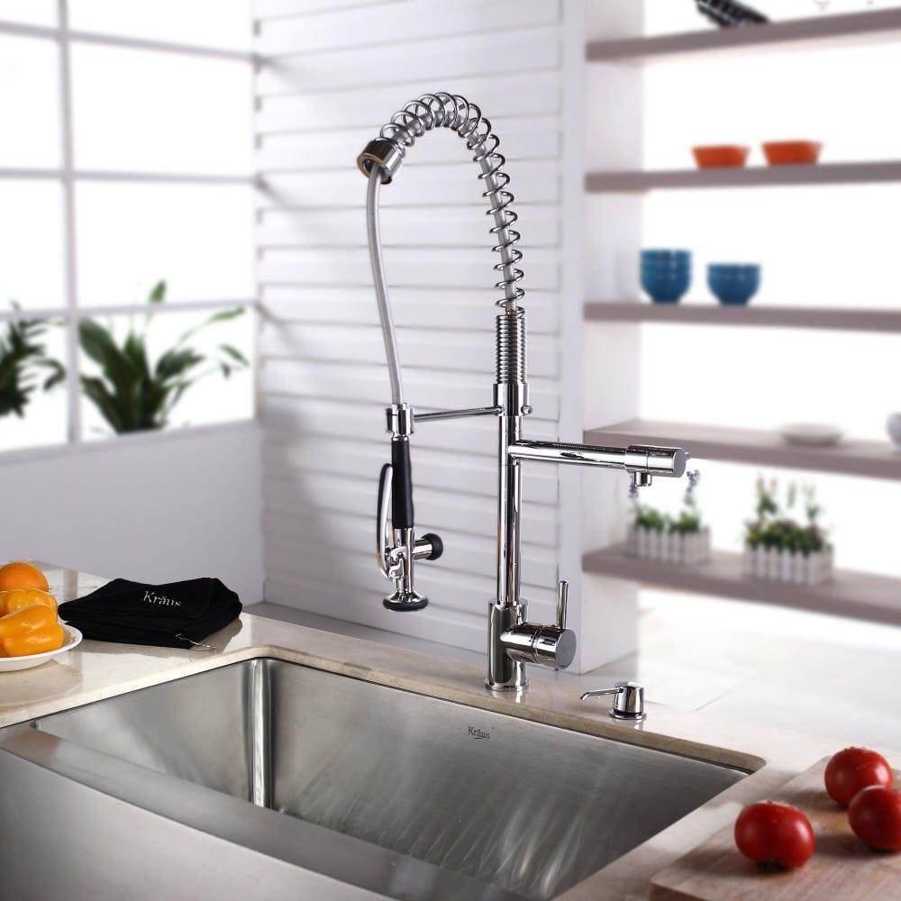 ... Kraus Kitchen Combo Series KHF20033KPF1602KSD30CH   Lifestyle View ...