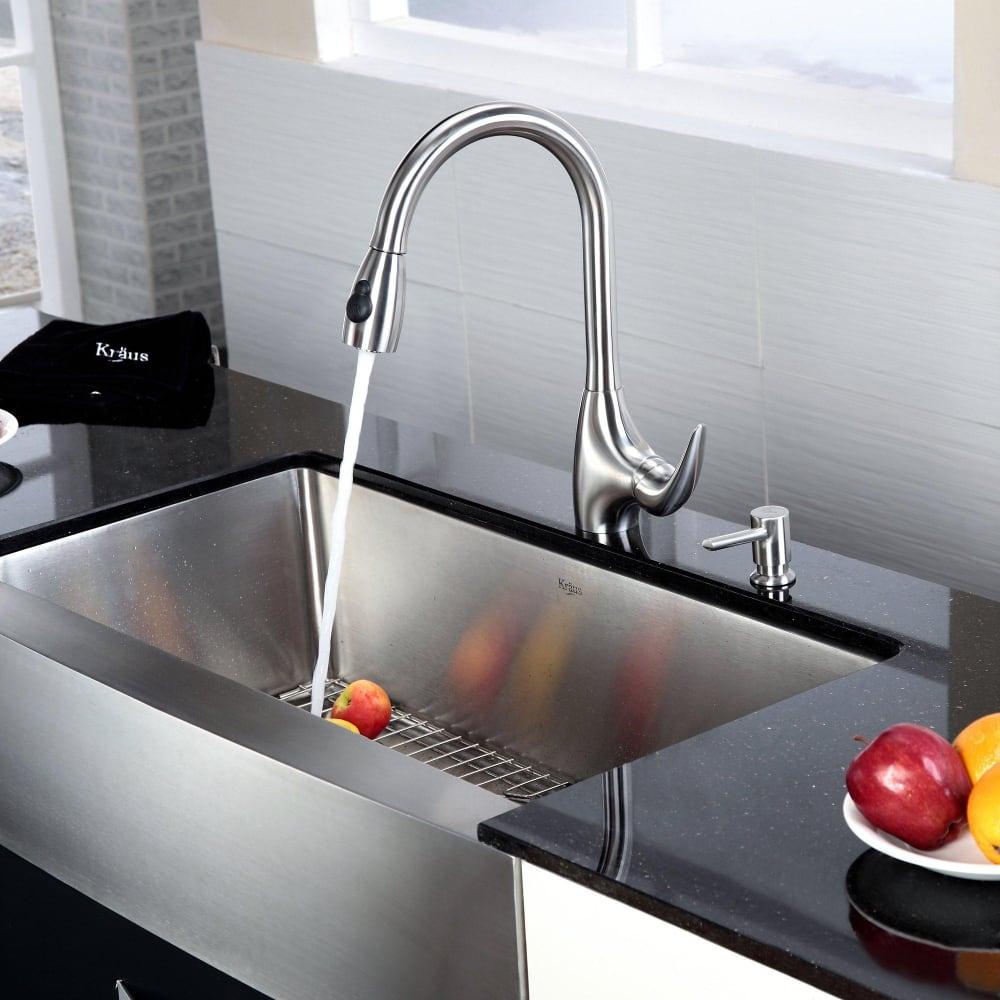 KHF 36 kitchen sink Kraus Kitchen Combo Series KHF Lifestyle View