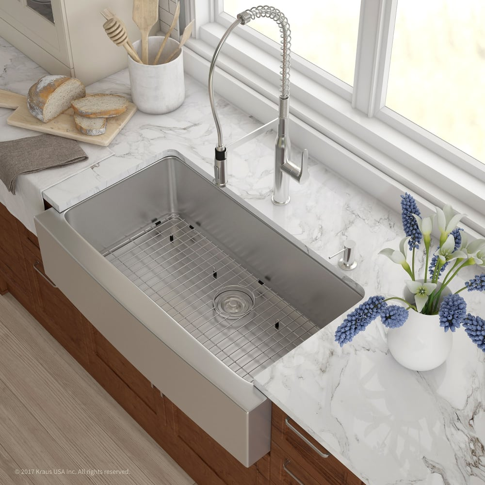 Kraus Khf20036 36 Inch Farmhouse Single Bowl Kitchen Sink