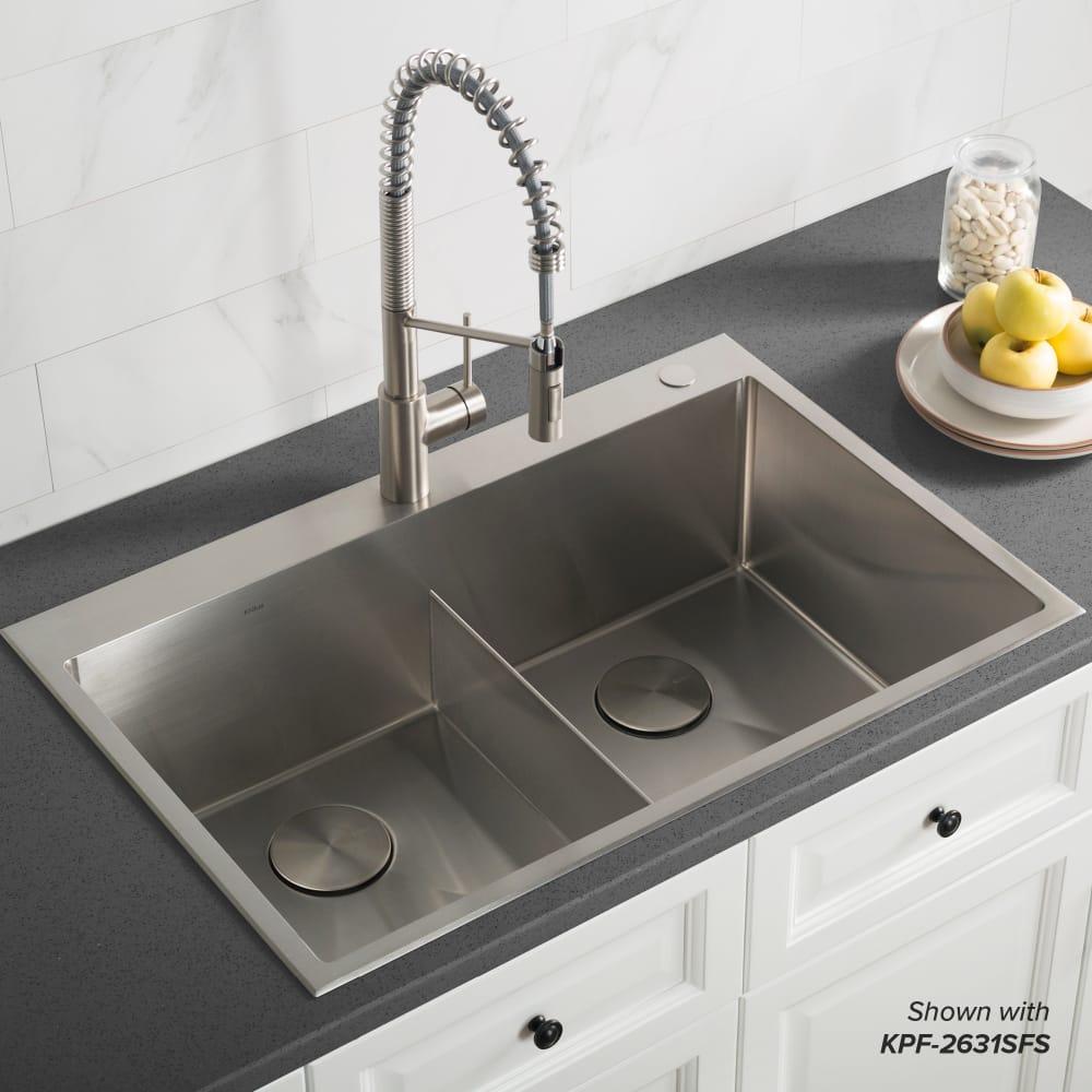 Kraus Kht30233 33 Inch Topmount Double Bowl Kitchen Sink