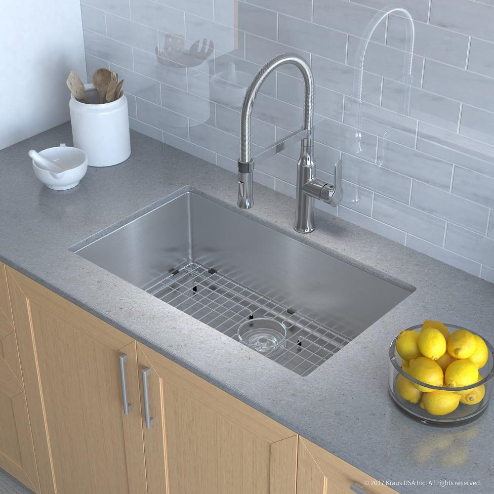 Kraus Khu10030164042ch 30 Inch Kitchen Sink And Flex