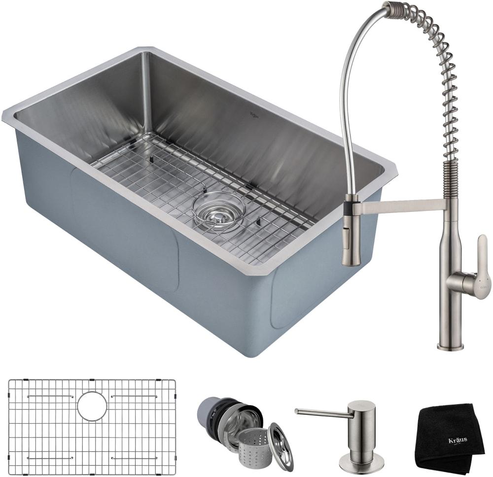 Kraus Khu10030165041 30 Inch Undermount Kitchen Sink And