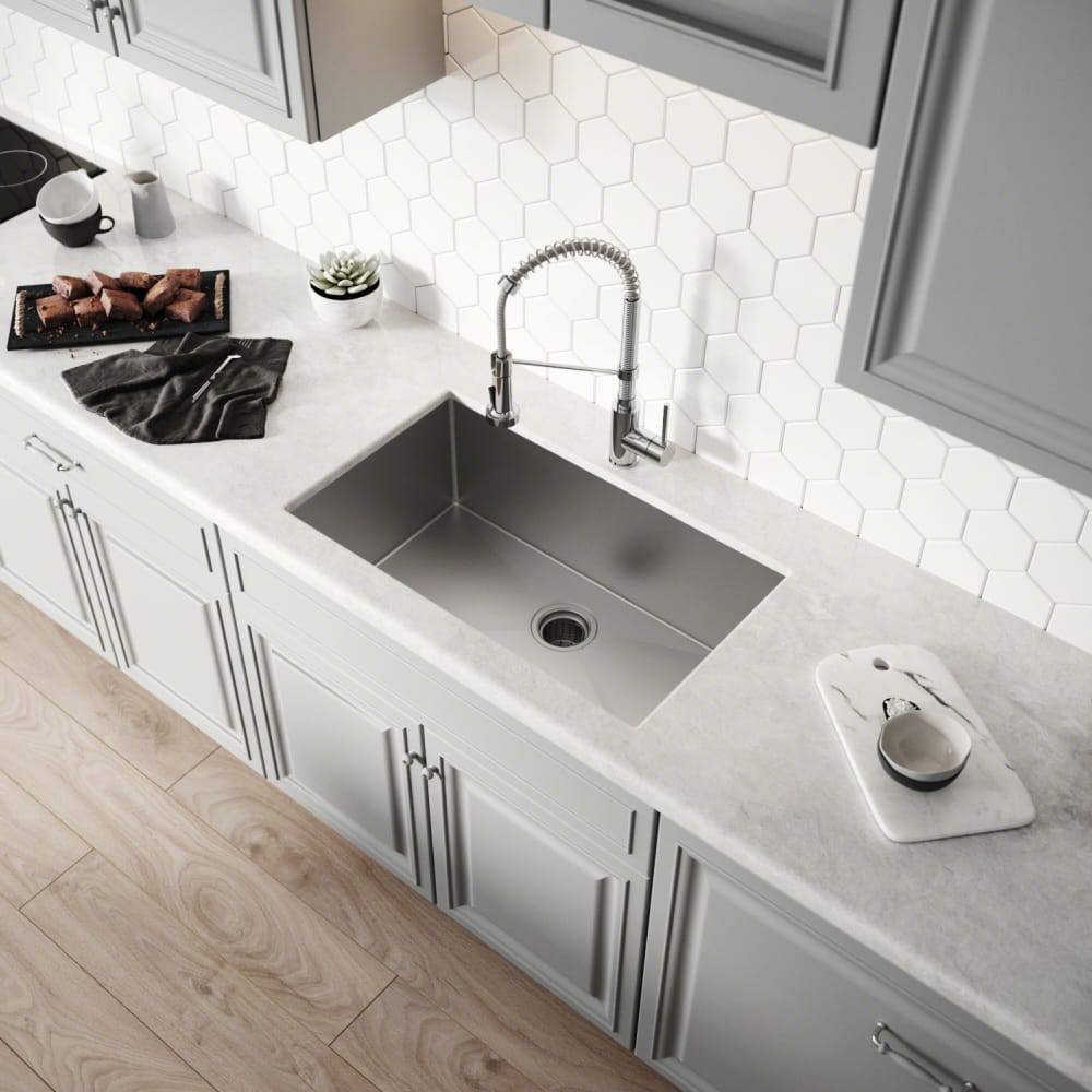 Kraus KHU10030 30 Inch Undermount Single Bowl Kitchen Sink ...
