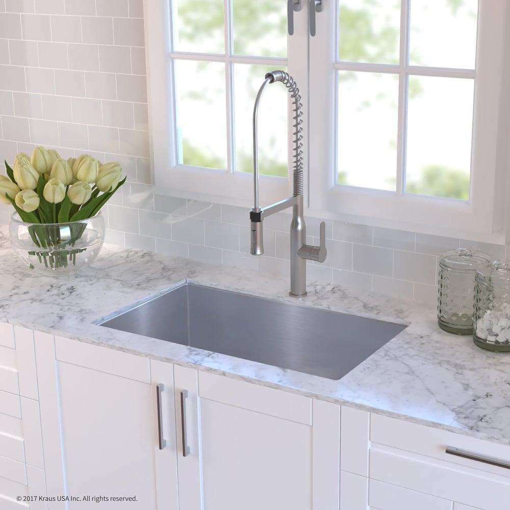 Kraus KHU10032165041SS 32 Inch Undermount Kitchen Sink and ... on farmhouse kitchen sink faucet, single kitchen sink faucet, wall mount kitchen sink faucet,