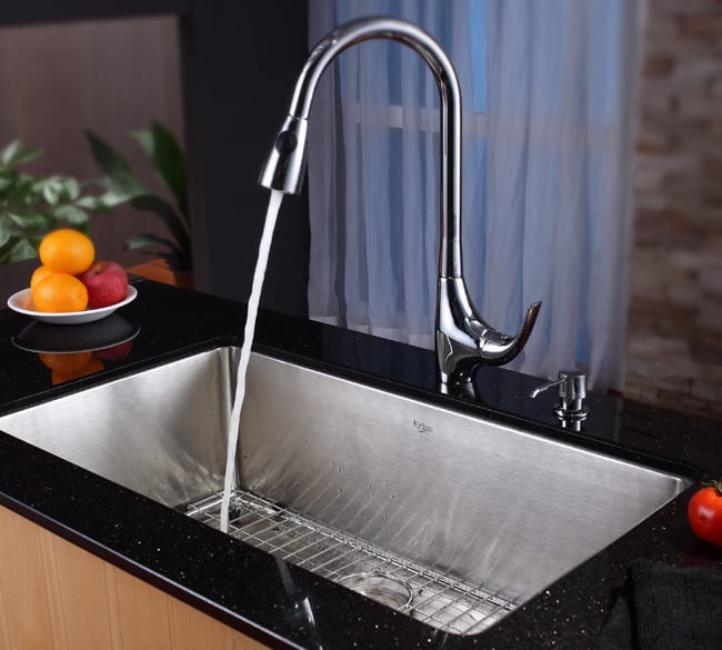 ... Kraus Kitchen Sink Series KHU10032   Lifestyle View ...