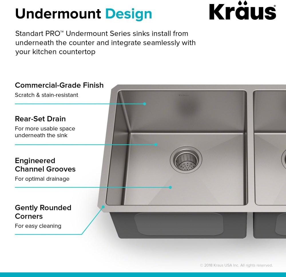 ... Kraus Standart PRO Series KHU10333 - Undermount Design Feature ...