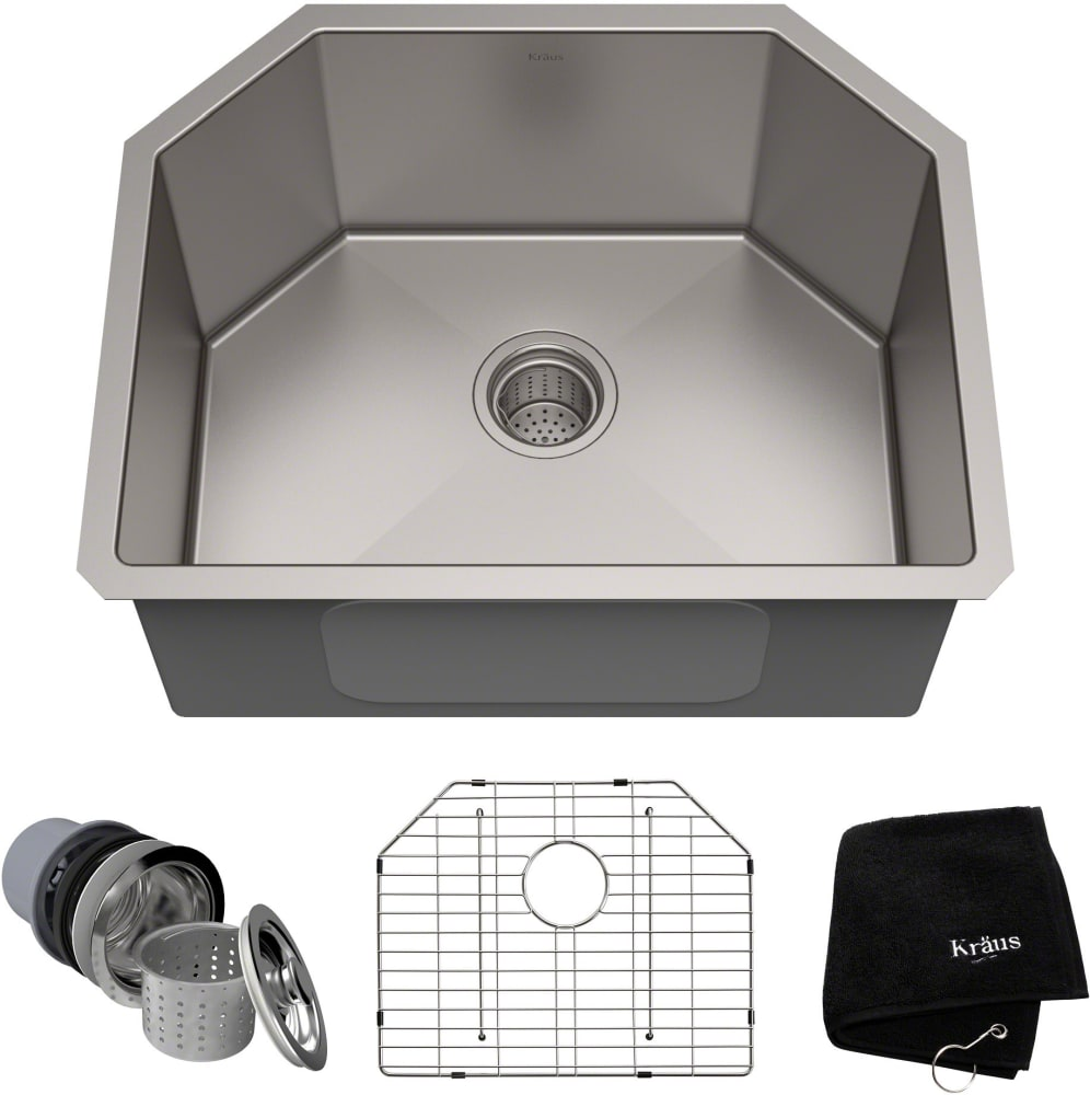 cabinet bathroom sinks kraus khu12223 23 inch undermount single bowl kitchen sink 12223
