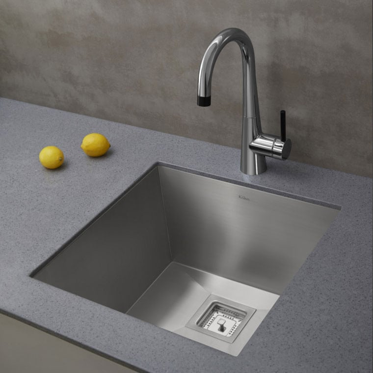 Kraus Pax Series KHU19   The KPF2700 Faucet Looks Great With The Pax Zero  Radius Sink ...