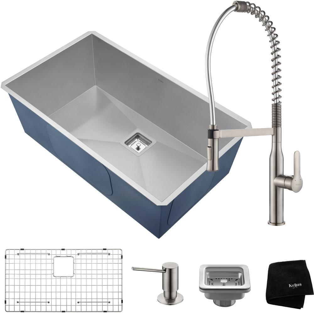 Kraus Khu32165041ss 31 Inch Undermount Kitchen Sink And