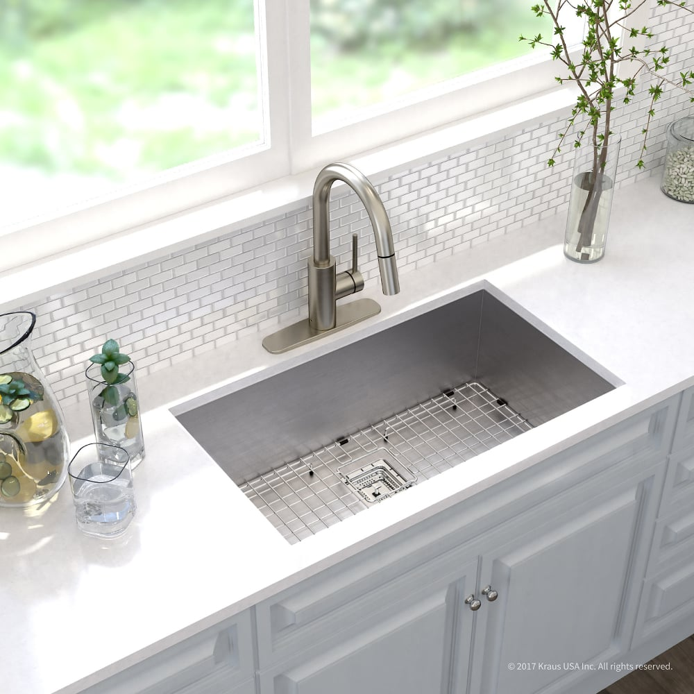 Kraus Khu32262041ss 31 Inch Undermount Kitchen Sink And Faucet Combo
