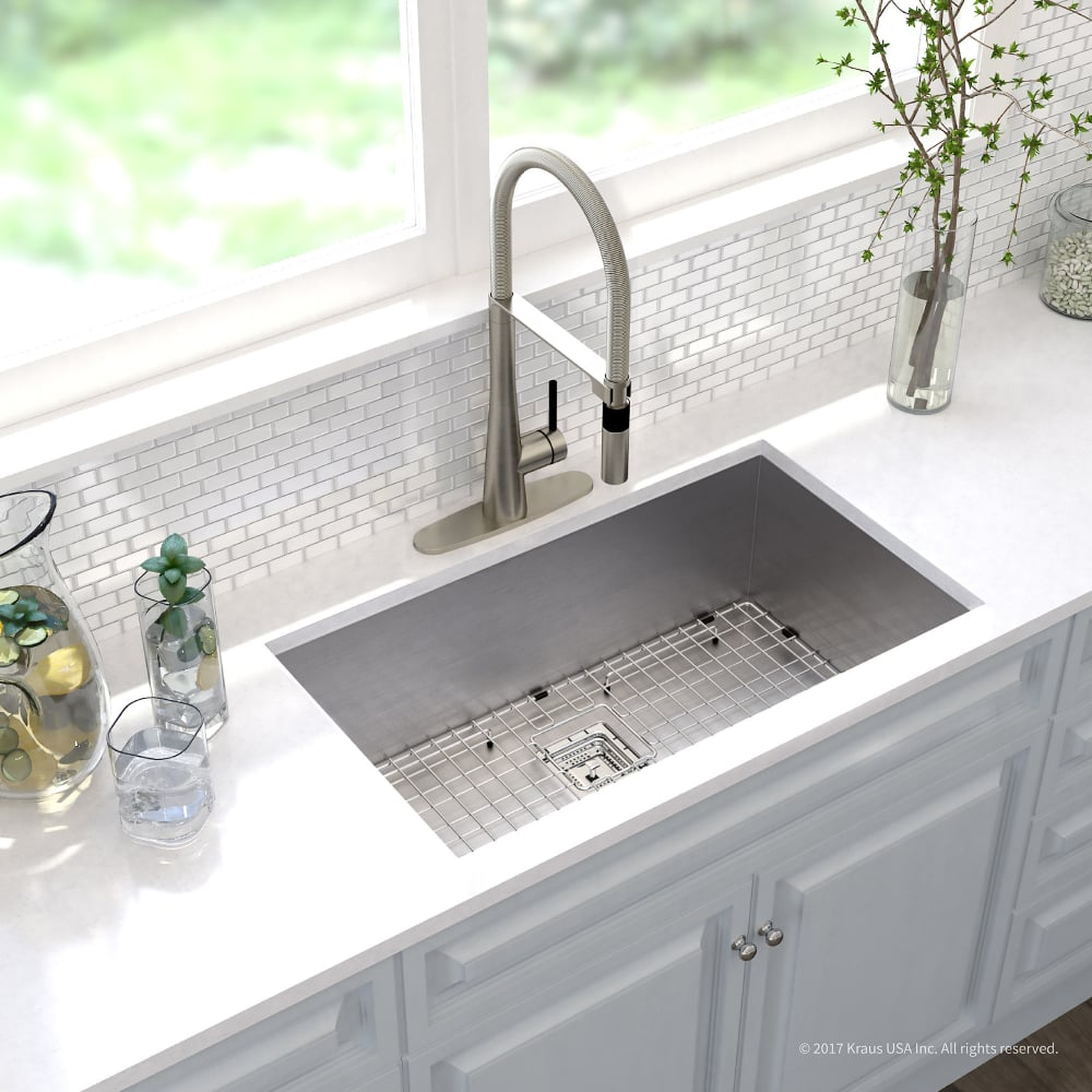 Kraus Khu32273041ss 31 Inch Kitchen Sink And Commercial