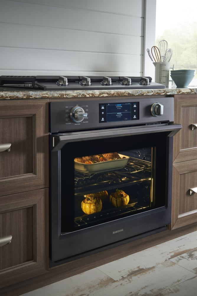 Wall Oven Reviews >> Samsung NV51K7770SG 30 Inch Wall Oven with 5.1 cu. ft. Capacity, Steam Cook, Flex Duo with Smart ...