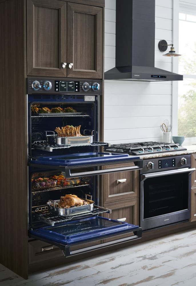 Double Electric Wall Oven From Samsung Nv51k6650dg Lifestyle View