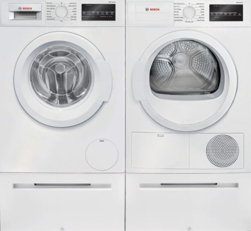 Bosch BOWADREW2 Side-by-Side On Pedestals Washer & Dryer
