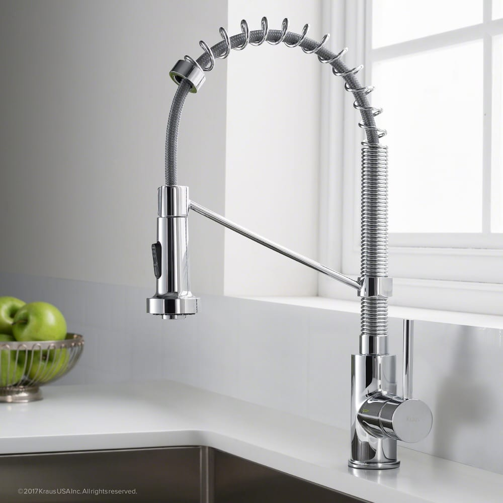 Kraus kpf1610ch single handle commercial kitchen faucet for Eco friendly kitchen faucets
