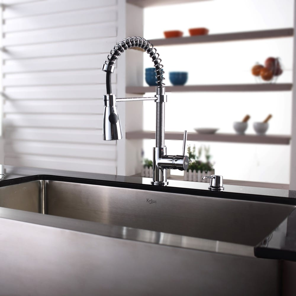 ... Kraus Kitchen Faucet Series KPF1612KSD30CH   Lifestyle View