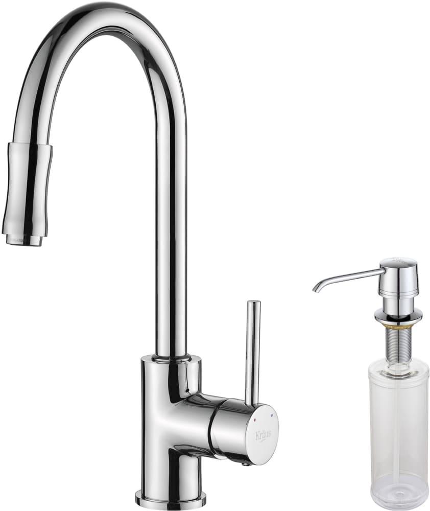 Kraus Kitchen Faucet Series KPF1622KSD30CH   Chrome Faucet And Soap  Dispenser ...