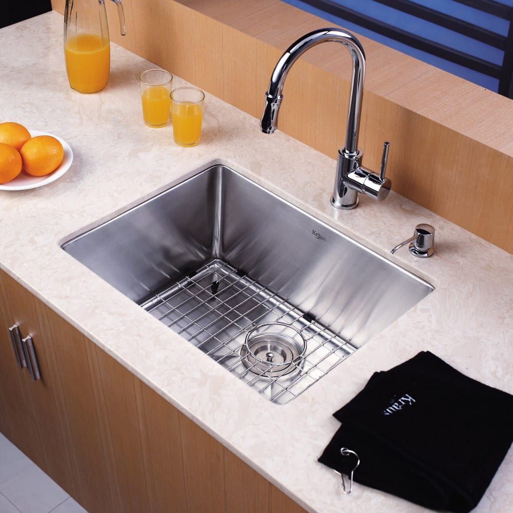 ... Kraus Kitchen Faucet Series KPF1622KSD30   Lifestyle View ...