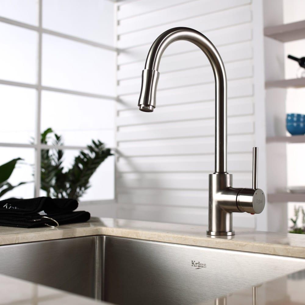 ... Kraus Kitchen Faucet Series KPF1622KSD30SN   Lifestyle View ...