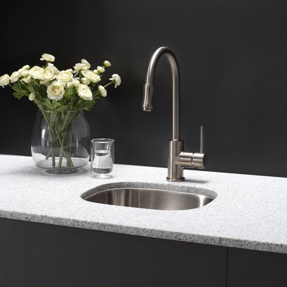 Kraus KPF1622SN Single Handle Pull Down Kitchen Faucet with Dual ...