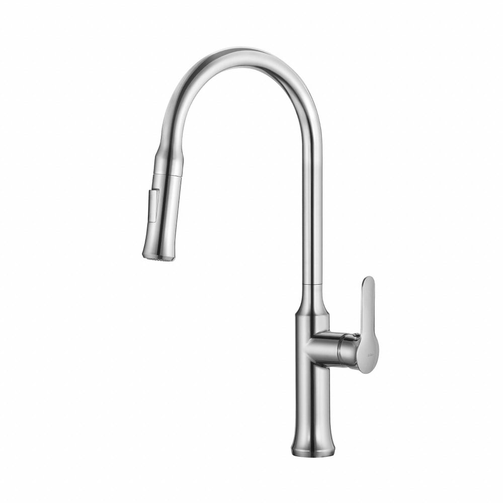 Kraus KPF1630CH Single Handle Pull-Down Kitchen Faucet with Dual ...