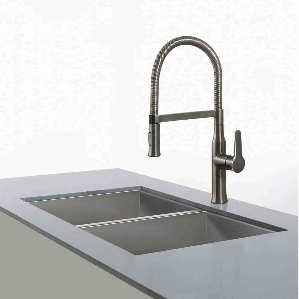 Kraus Kpf1640ss Single Handle Flex Commercial Style