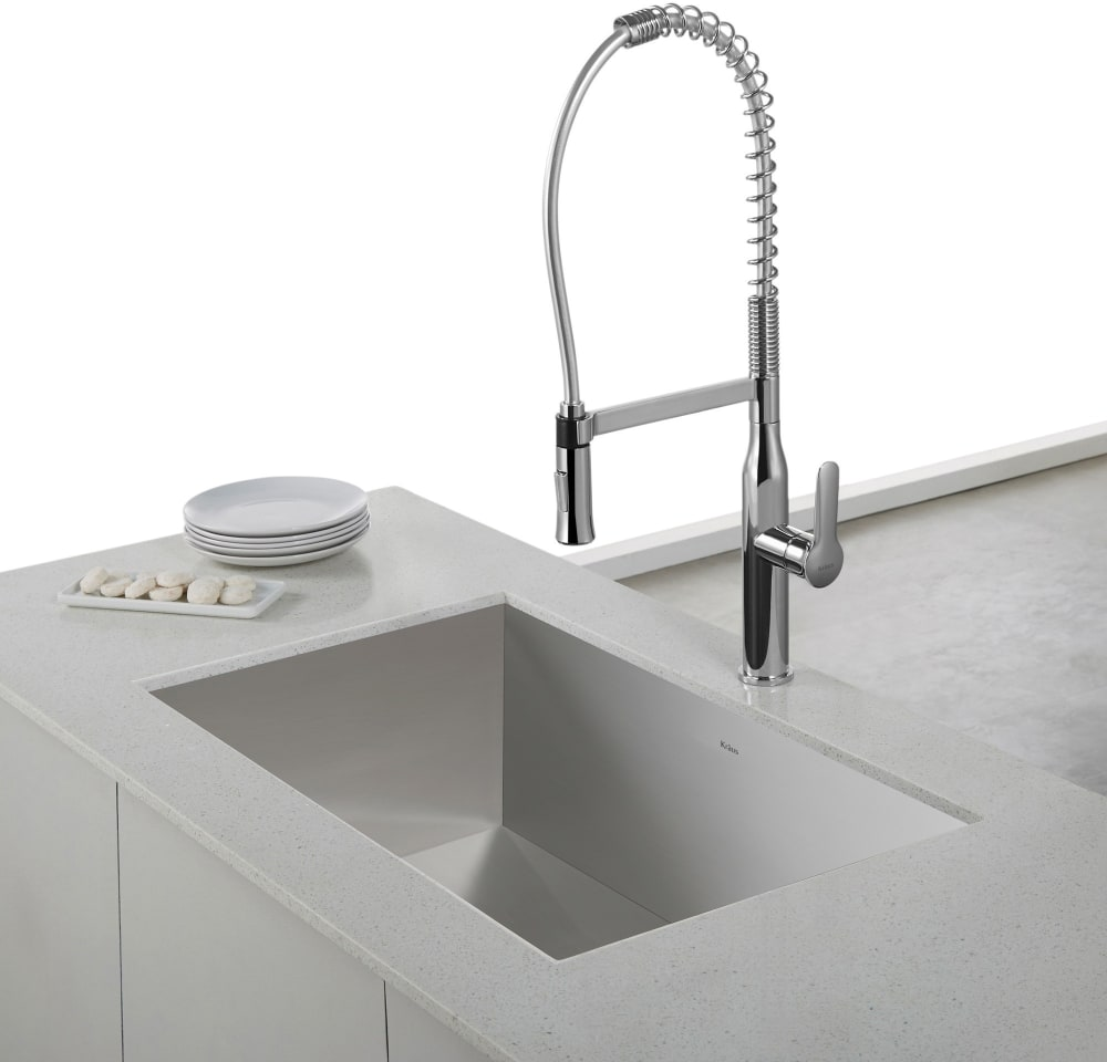 kraus kpf1650ss single lever commercial style kitchen faucet with