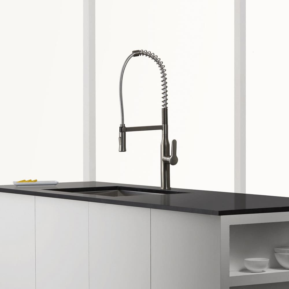 Kraus KPF1650SS Single Handle Commercial Style Kitchen Faucet with ...
