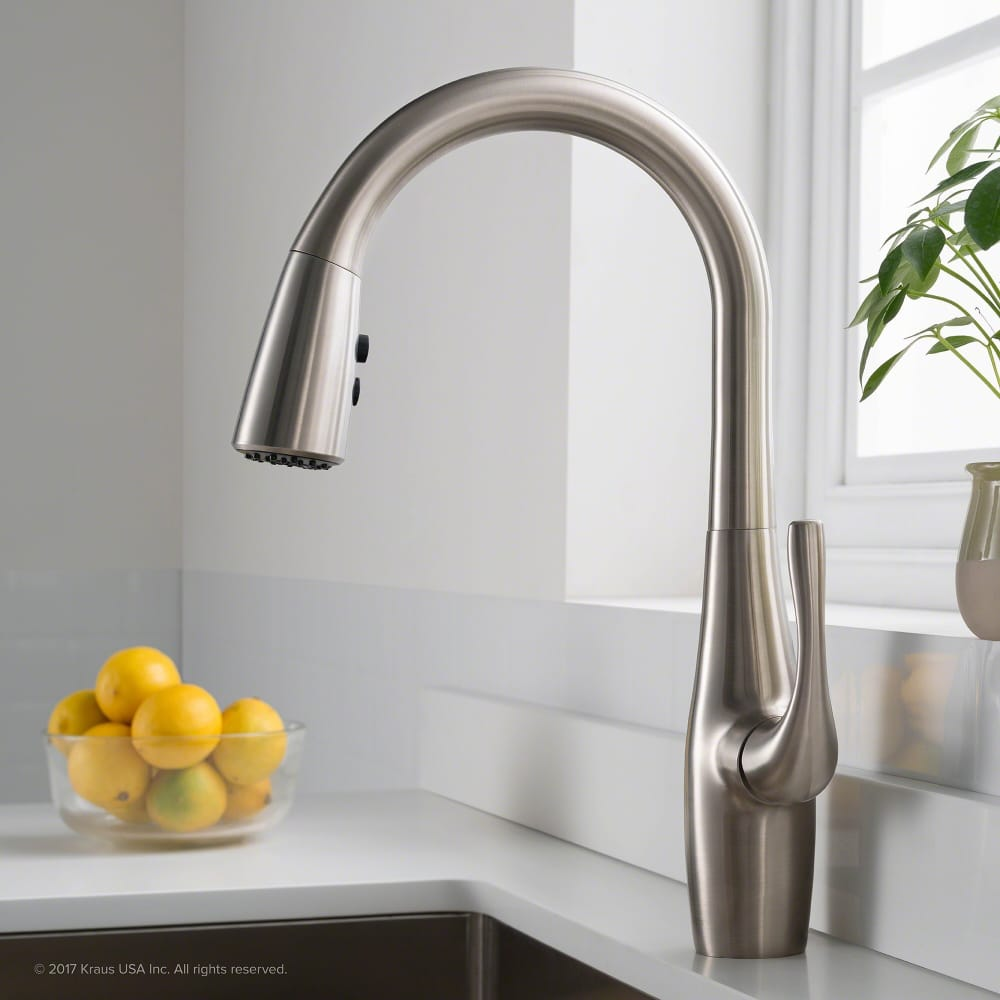 Kraus Kpf1670sfs Dual Function Pull Down Kitchen Faucet With All