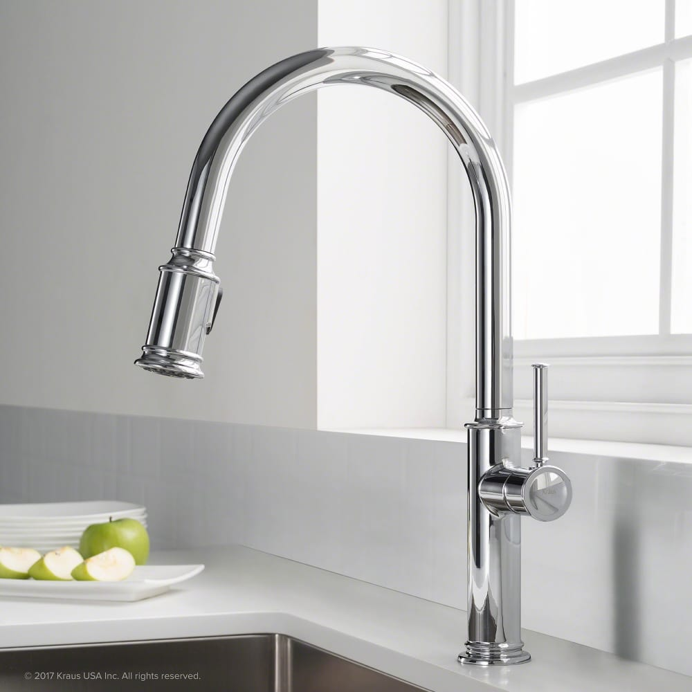 Discount Kitchen Faucets: Kraus KPF1680CH Single Handle Pull Down Kitchen Faucet