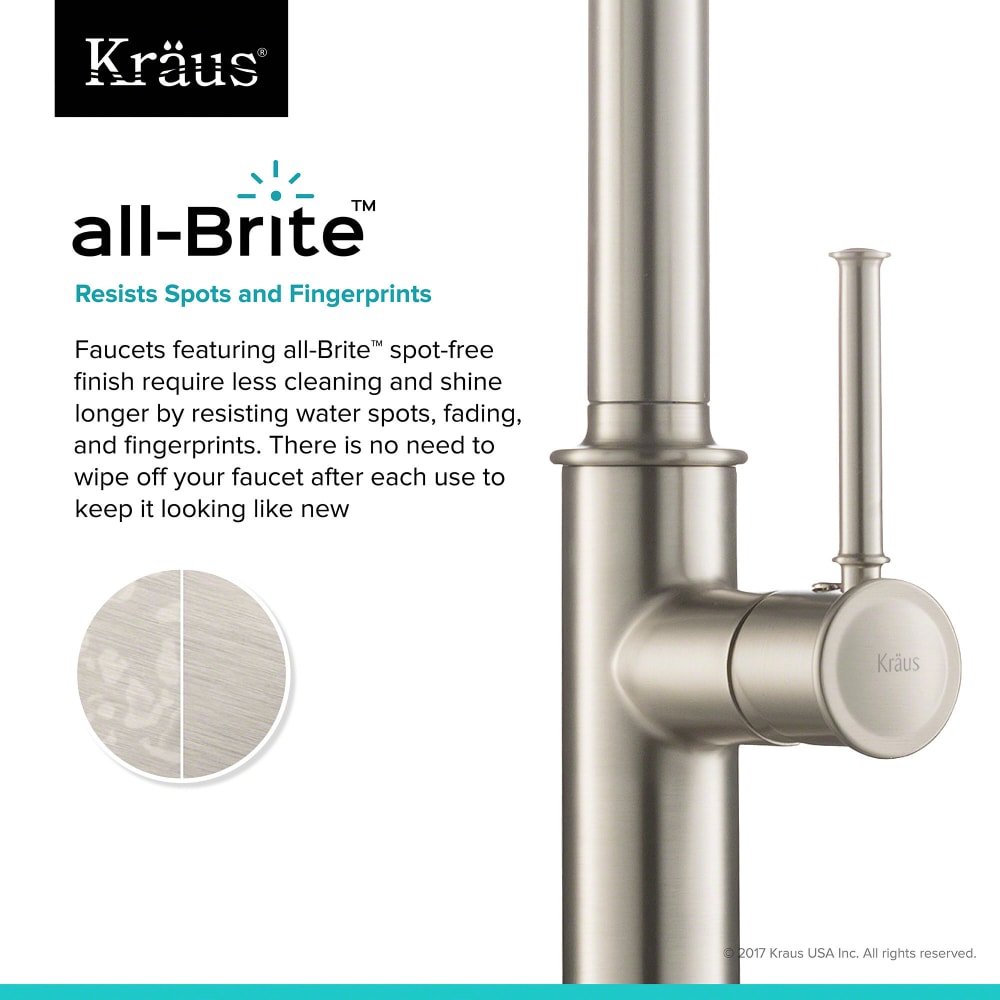 Kraus Kpf1680sfs Single Handle Pull Down Kitchen Faucet With All