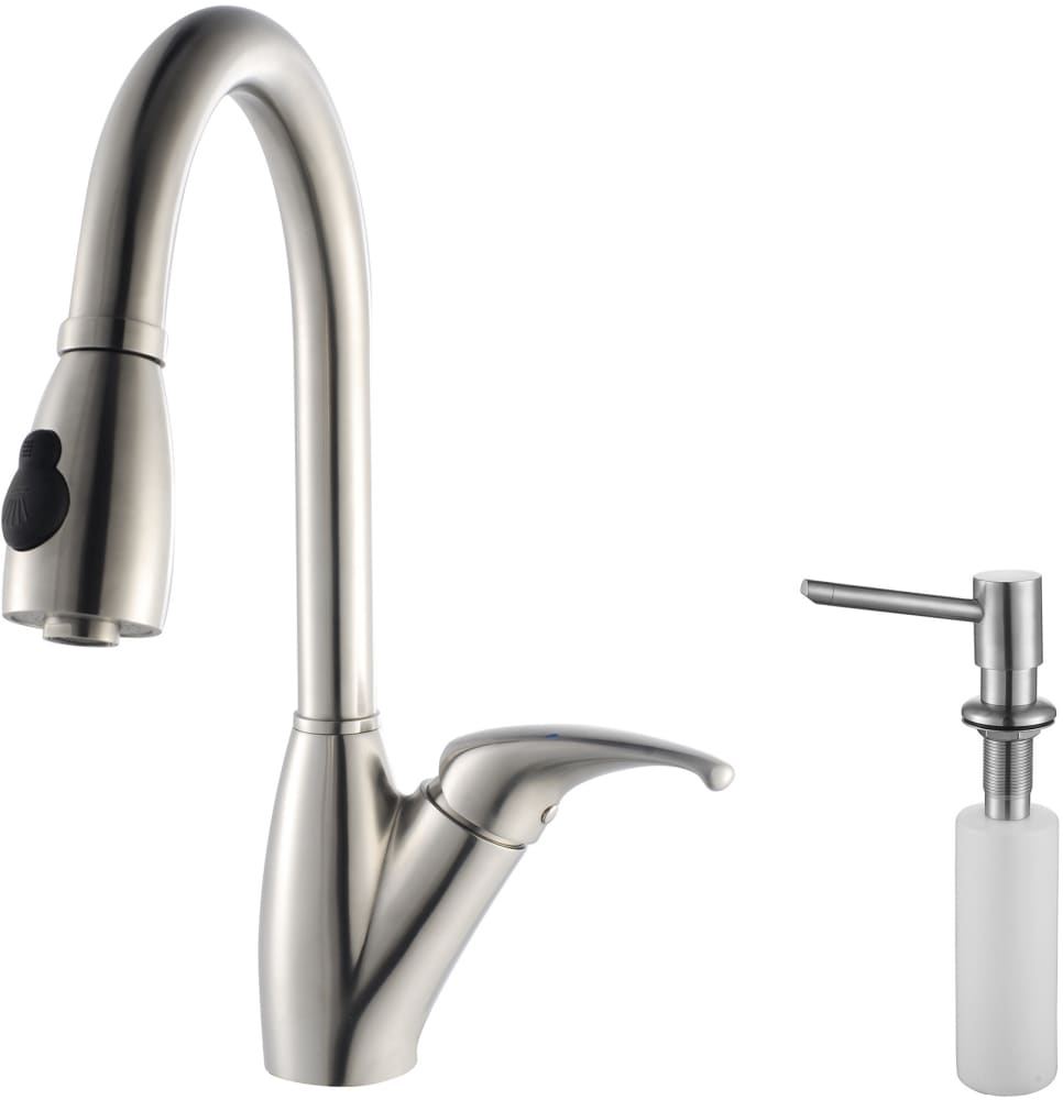 Kraus Kpf2120sd20 Single Lever Pull Out Faucet With 9 Inch Spout Reach 24 Inch Spring Tensioned