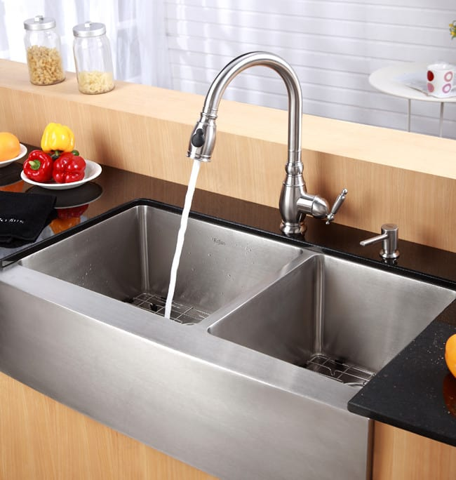 Kraus Kpf2150 Single Lever Pull Out Kitchen Faucet With 10 Inch