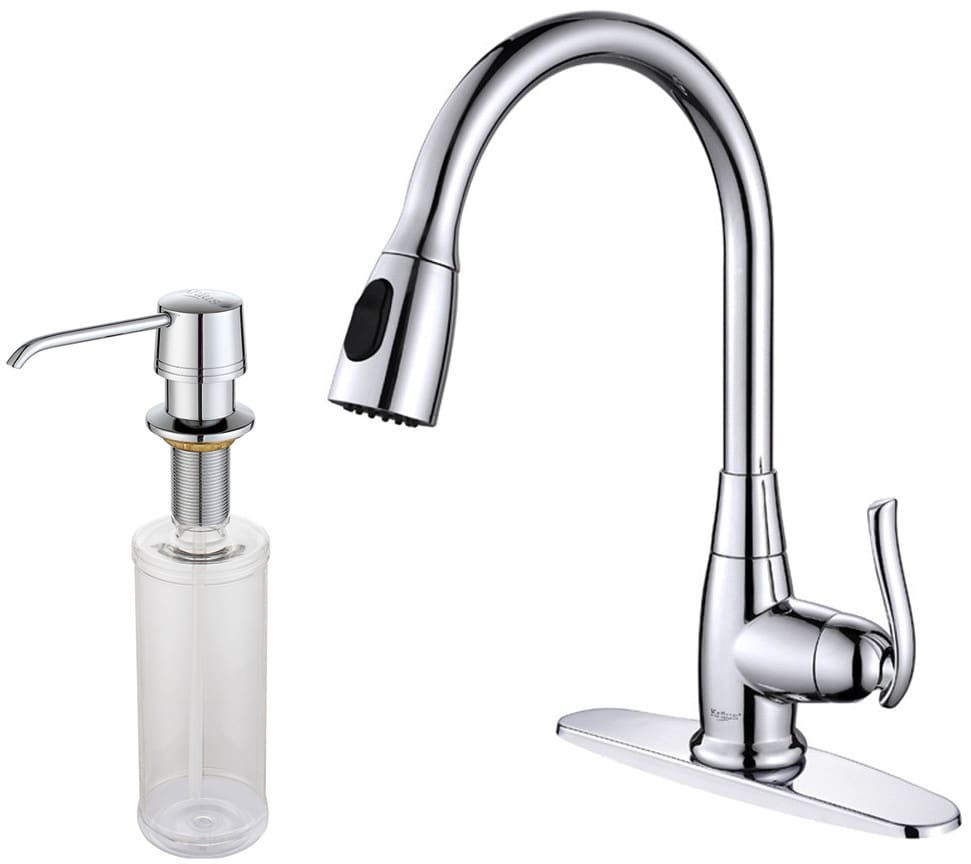 Kraus Kitchen Faucet Series. KPF2230KSD30CH. Single Lever Pull Out ...