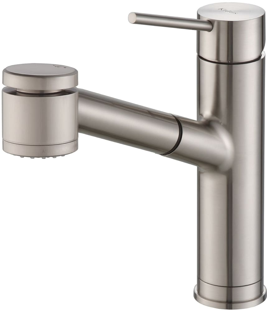 Kraus kpf2610ss single handle pull out kitchen faucet with for Best stainless steel kitchen faucets