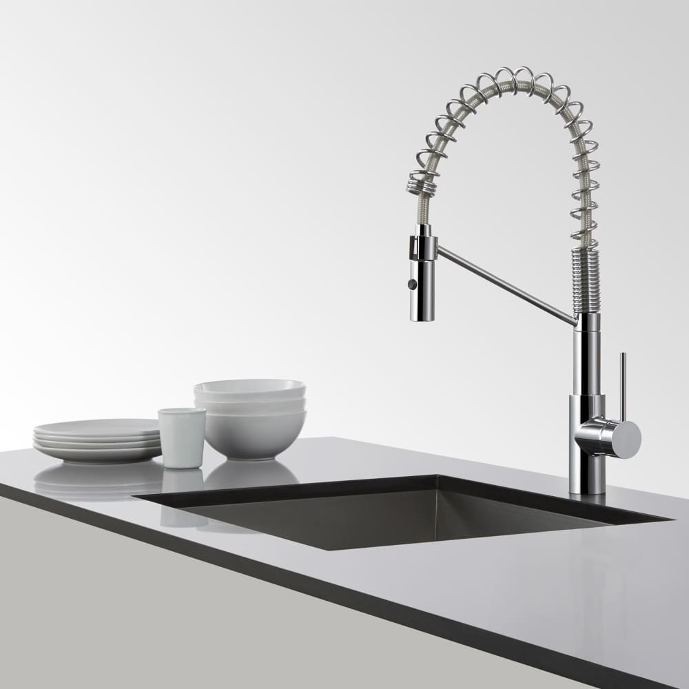 Kraus KPF2630SS Single Lever Faucet with 9 1/4 Inch Spout Reach ...