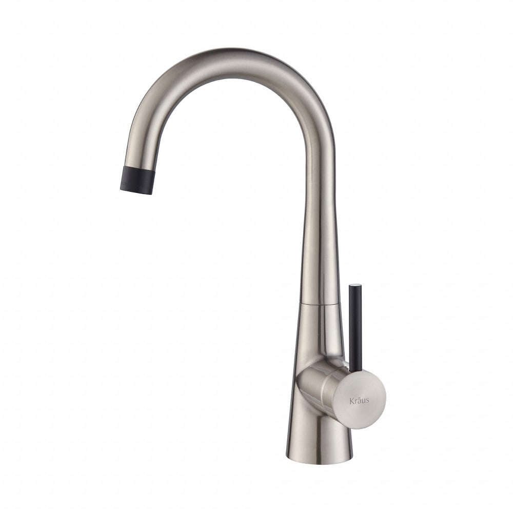 Kraus KPF2700SS Single Handle Kitchen Bar Faucet with 5 15/16 Inch ...