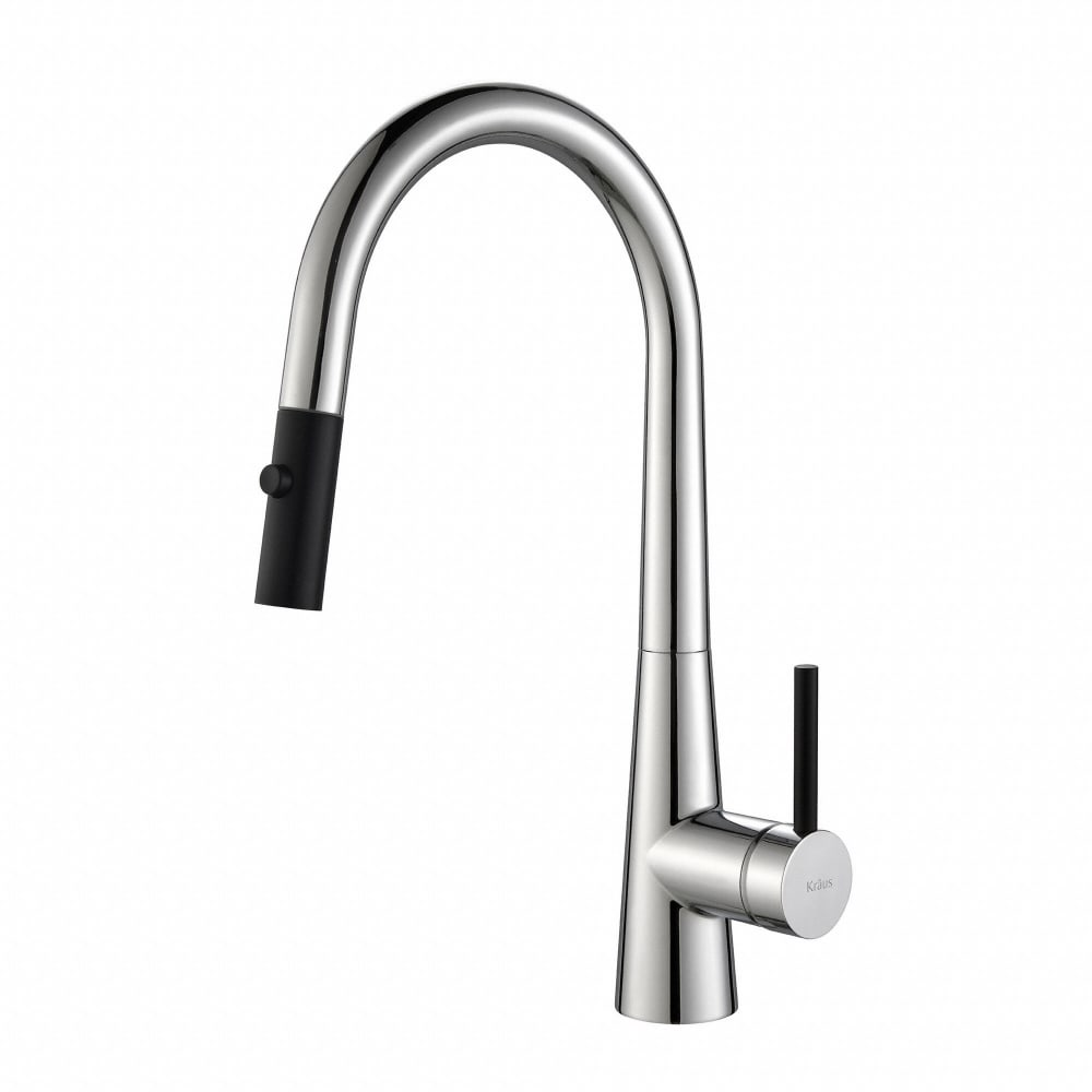 Kraus KPF2720CH Single Handle Pull Down Kitchen Faucet with 8 3/8 ...