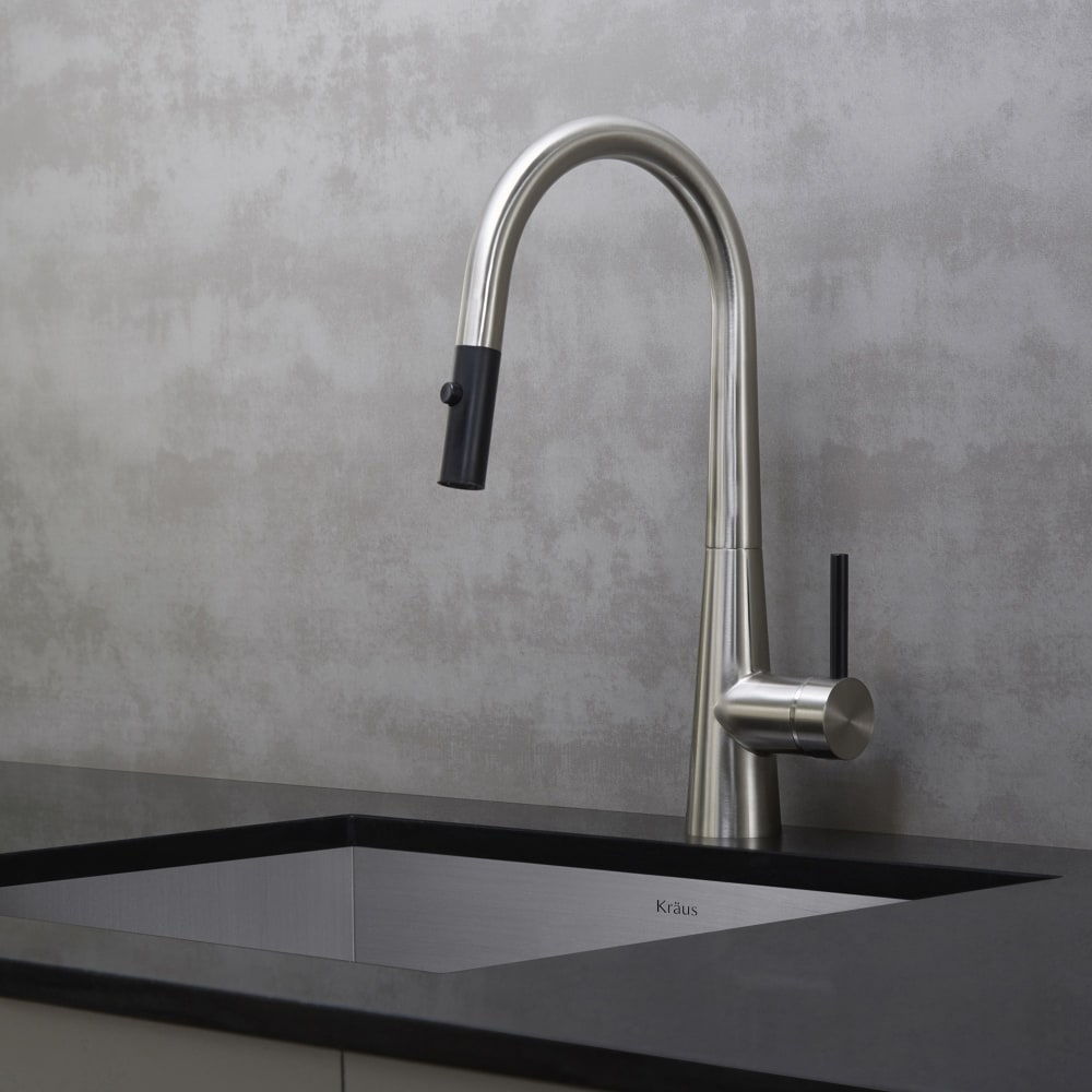 ... Kraus Crespo Series KPF2720SS   Single Lever Pull Down Kitchen Faucet  With 8 3/8 ...