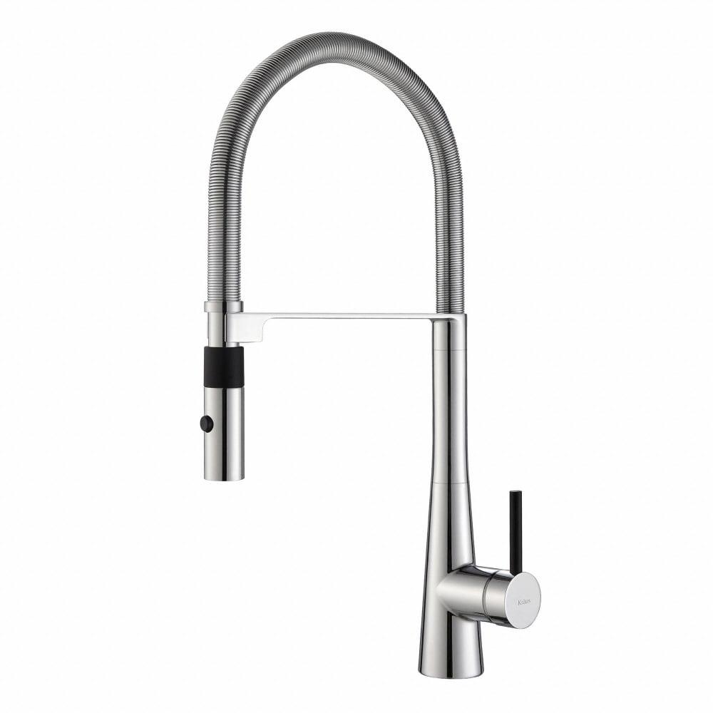 Kraus KPF2730CH Single Handle Flex Commercial Style Kitchen Faucet ...