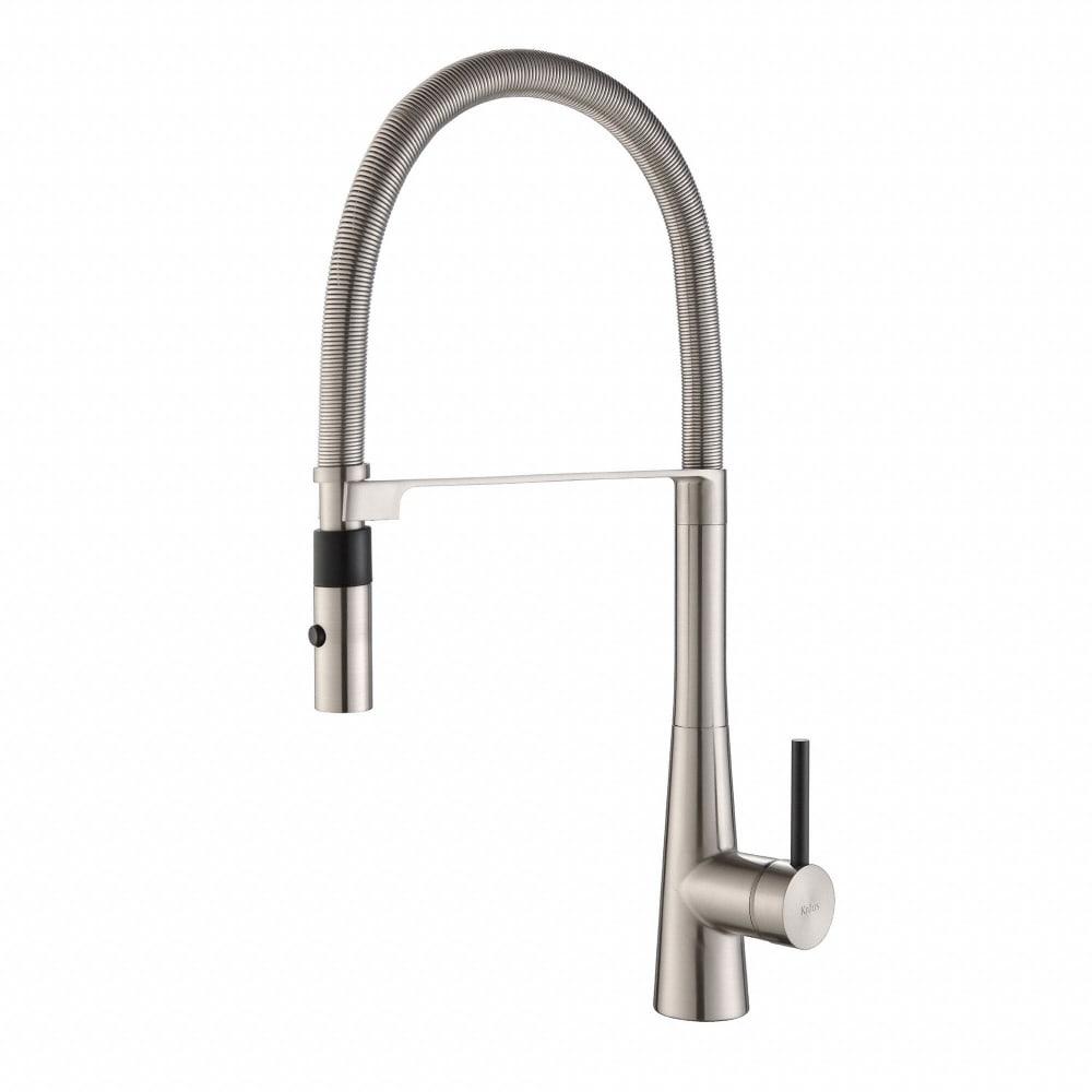 Kraus KPF2730SS Single Handle Flex Commercial Style Kitchen Faucet ...